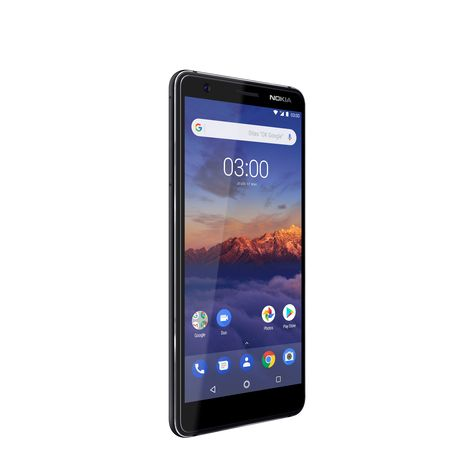 NOKIA Pack Smartphone + Écouteurs M1i + Verre trempé - 3.1 - 16 Go - 5.2 pouces - Noir