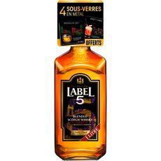 Label 5 scotch whisky 40° -1l doseur et livret cocktail