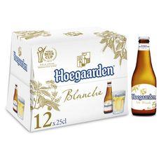 HOEGAARDEN Bière blanche 4,9% bouteilles 12x25cl