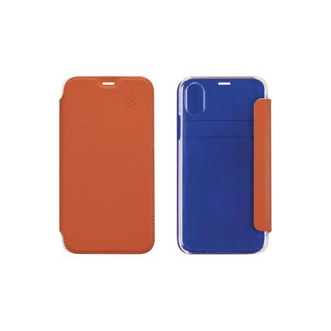 BEETLE CAS Etui folio pour iPhone 6/6S/7/8 - Orange et Bleu