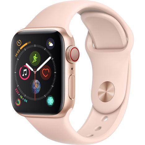 APPLE Montre connectée - Watch Series 4 - GPS + Cellular - Etanche - Or et Rose - Ecran 40mm