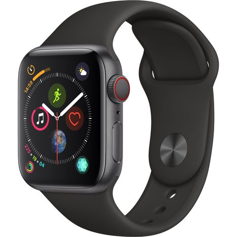 APPLE Montre connectée - Watch Series 4 - GPS + Cellular - Etanche - Aluminium et Noir - Ecran 40mm