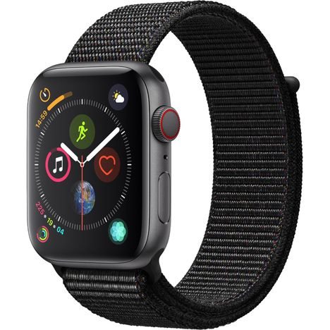 APPLE Montre connectée - Watch Séries 4 GPS + Cellular - Étanche - Aluminium/Noir - Ecran 44 mm