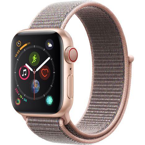APPLE Montre connectée - Watch Series 4 - GPS + Cellular - Etanche - Rose doré et Rose - Ecran 40mm