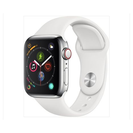 APPLE Montre connectée - Watch Series 4 - GPS + Cellular - Etanche - Aluminium et Blanc - Ecran 40mm