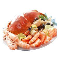 plateau de fruits de mer au tourteau cuit 2parts 1,300kg