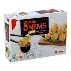 AUCHAN Mini nems au poulet sauce nuoc mam 8 pièces 240g