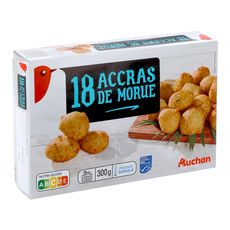 AUCHAN Auchan Accras de morue 300g 18 pièces 300g