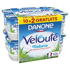 DANONE Danone velouté nature 10x125g +2offerts