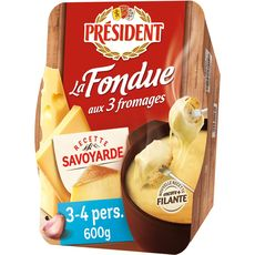 PRESIDENT PRESIDENT Fondue aux 3 fromages 600g 600g