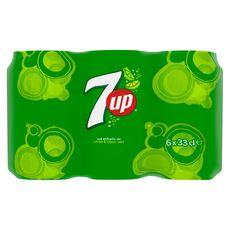 Seven Up canettes citron et citron vert 6 x 33 cl