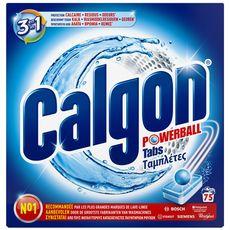 CALGON Tablettes anti-calcaire, résidus et odeurs lave-linge 75 lavages 75 tablettes