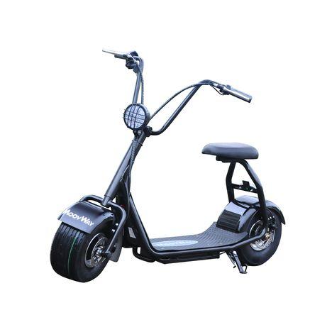 MOOVWAY Scooter électrique avec selle Coco Junior Noir