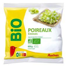 AUCHAN BIO Emincés de poireaux 3 portions 600g