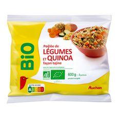AUCHAN BIO Poêlée de légumes et quinoa façon tajine 3 portions 600g