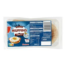 AUCHAN Muffins complets 250g