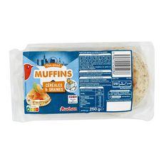 AUCHAN Muffin anglais aux céréales x4 250g