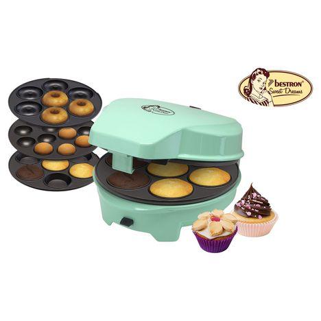 BESTRON Appareil à gâteaux 3 en 1 ASW238 Sweet Dreams, Menthe