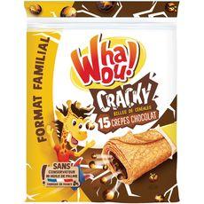 WHAOU Whaou! Cracky crêpes fourrées chocolat et billes de céréales x15 480g 15 crêpes 480g