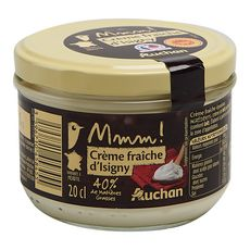 AUCHAN Mmm ! Crème fraîche épaisse d'Isigny AOP 40%MG 20cl