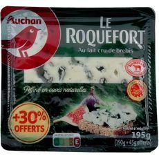 AUCHAN Roquefort AOP 150g +30% offert