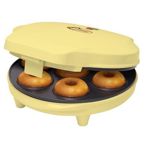 BESTRON Appareil à donuts ADM218SD Sweet Dreams, Jaune