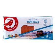 Auchan saumon fumé de Norvège tranche x8 -280g
