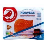 Auchan saumon fumé de Norvège mini x4 -140g