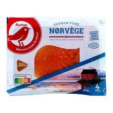 Auchan saumon fumé de Norvège mini x4 - 140g