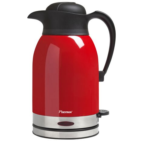 BESTRON Bouilloire Thermos ATW1600 Hot Red, Rouge