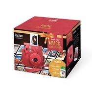 FUJIFILM Pack Découverte Appareil Photo Instantané - Instax Mini 9 - Rouge coquelicot