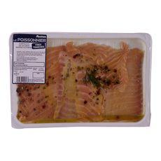 AUCHAN LE POISSONNIER Auchan Le Poissonnier Carpaccio de saumon mariné 170g 2 personnes 170g
