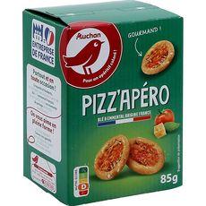 AUCHAN Pizz'apéro crackers saveur pizza 85g