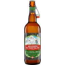 BRASSERIE MONT BLANC Bière blonde Cristal 4,7% 75cl