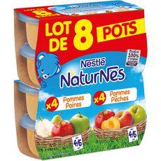 NESTLE Nestlé natures pomme poire +pomme pêches 8x130g