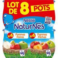 Nestlé natures pomme poire +pomme pêches 8x130g