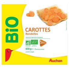 Mc Cain AUCHAN BIO Auchan bio Carottes en rondelles bio filière responsable 600g