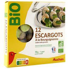 AUCHAN BIO Escargots à la Bourguignonne 12 pièces 72g