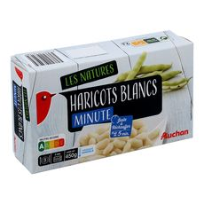 AUCHAN Haricots blancs minute 3 portions 450g