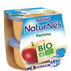 Nestlé Naturnes petit pot dessert pommes bio dès 4 mois 2x115g