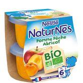 Nestlé bio naturnes pomme pêche abricot 2x115g dès4/6mois