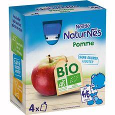 Nestlé Naturnes gourde dessert à la pomme bio dès 4 mois 4x90g