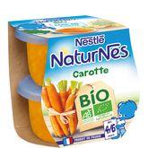 Nestlé bio naturnes carotte 2x130g dès4/6mois