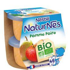 Nestlé bio naturnes pomme poire 2x115g dès4/6mois