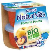 Nestlé Nestlé Naturnes petit pot dessert pomme prune bio dès 4 mois 2x115g