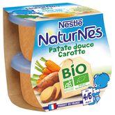 Nestlé bio naturnes patate douce carottes 2x130g dès 4/6mois