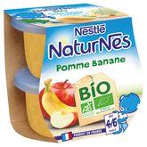 Nestlé Nestlé Naturnes petit pot dessert pomme banane bio dès 4 mois 2x115g