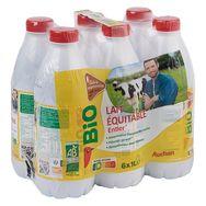 Auchan bio lait équitable entier bouteille 6x1l