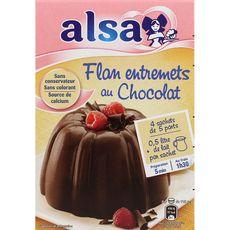 Alsa préparation flan entremets au chocolat 232g