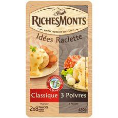RichesMonts raclette duo poivre tranche 420g